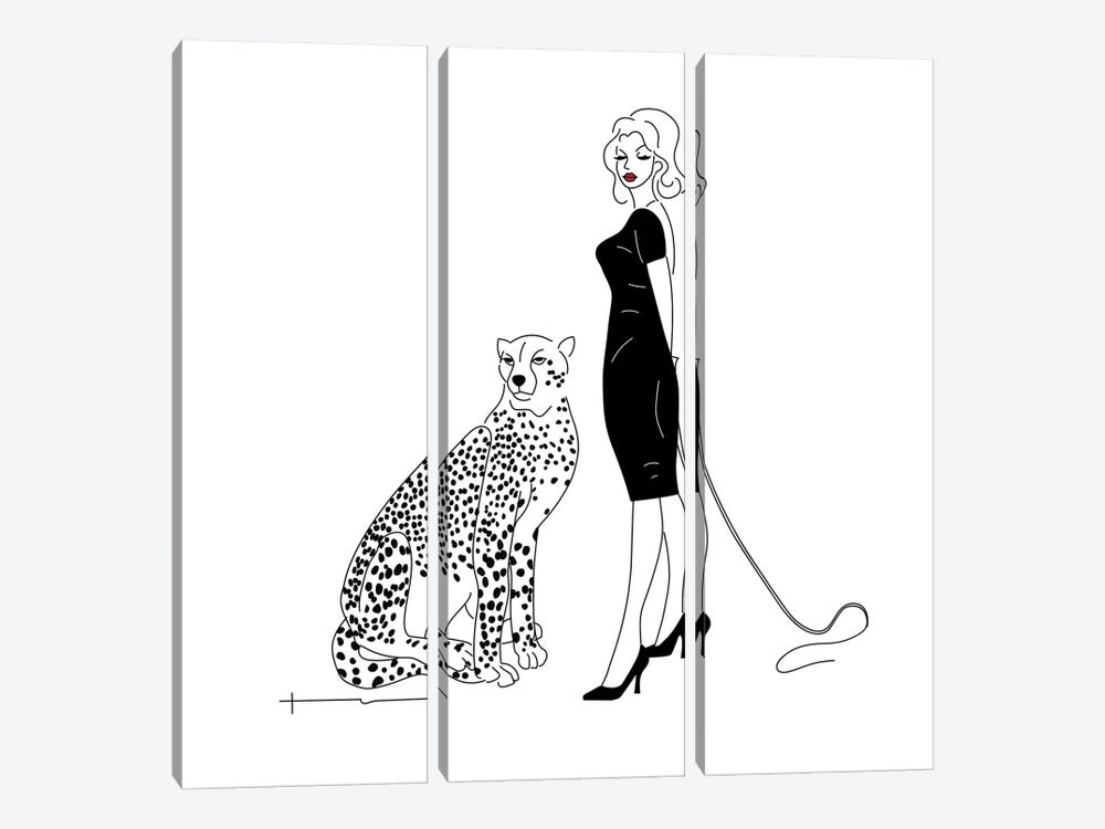 You Said I Could Get A Cat. by Antonia Harris 3-piece Canvas Art