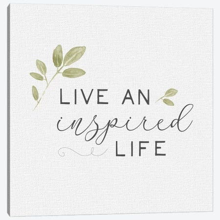 Inspired Life I Canvas Print #HRW18} by hartworks Canvas Art