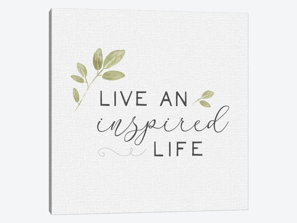 Inspired Life I by hartworks 1-piece Art Print