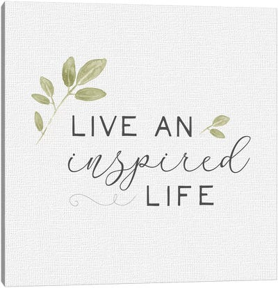 Inspired Life I Canvas Art Print