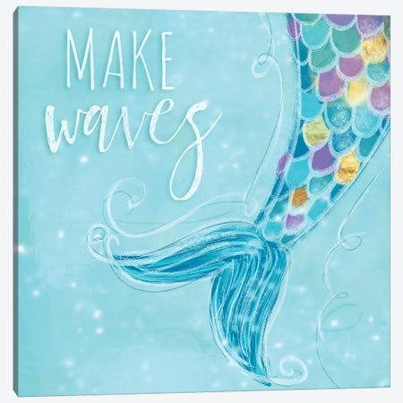 Make Waves I Canvas Print #HRW30} by hartworks Canvas Art