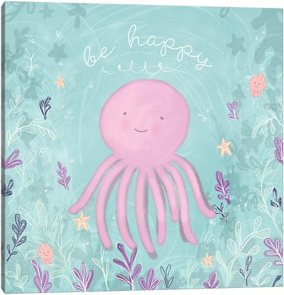 Mermaid and Octopus II Canvas Art Print