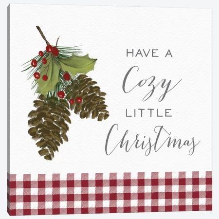 Cozy Christmas Gingham I Canvas Print #HRW42} by hartworks Art Print