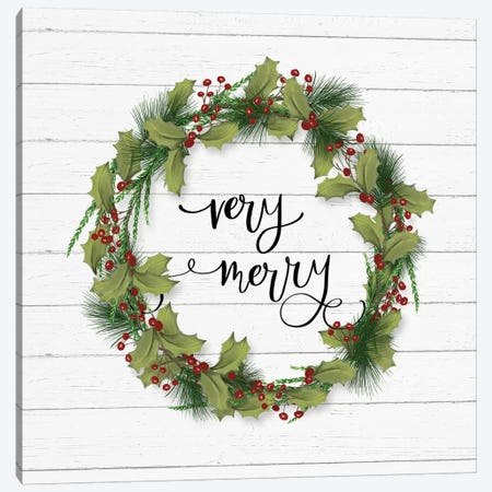 Cozy Christmas Wreath I Canvas Print #HRW49} by hartworks Canvas Art Print