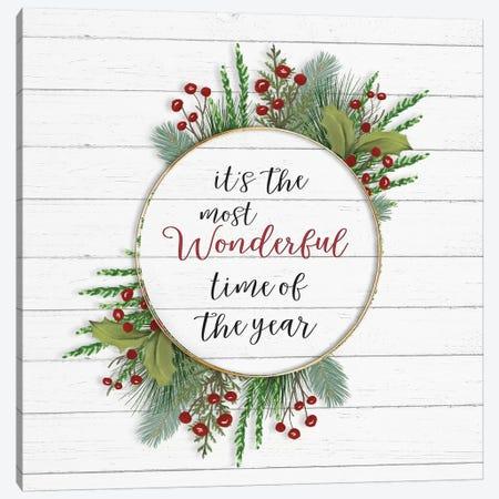 Cozy Christmas Wreath II Canvas Print #HRW50} by hartworks Canvas Artwork
