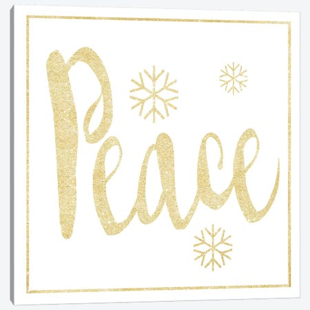 Golden Peace I Canvas Print #HRW9} by hartworks Canvas Artwork