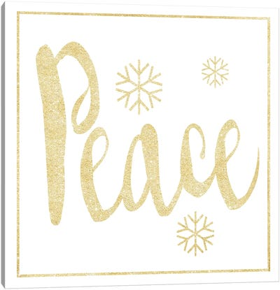 Golden Peace I Canvas Art Print