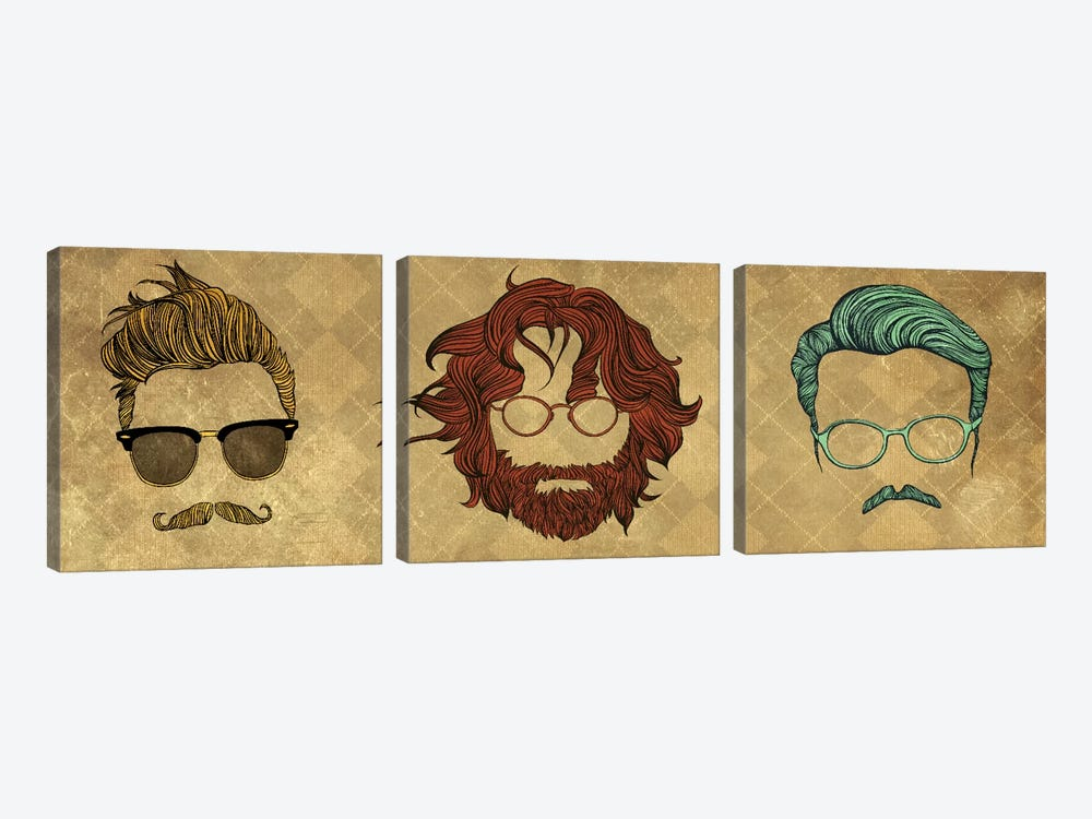 Mix Style #1 by 5by5collective 3-piece Canvas Art Print