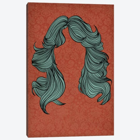 Feathered hair Canvas Print #HSC15} by 5by5collective Canvas Art