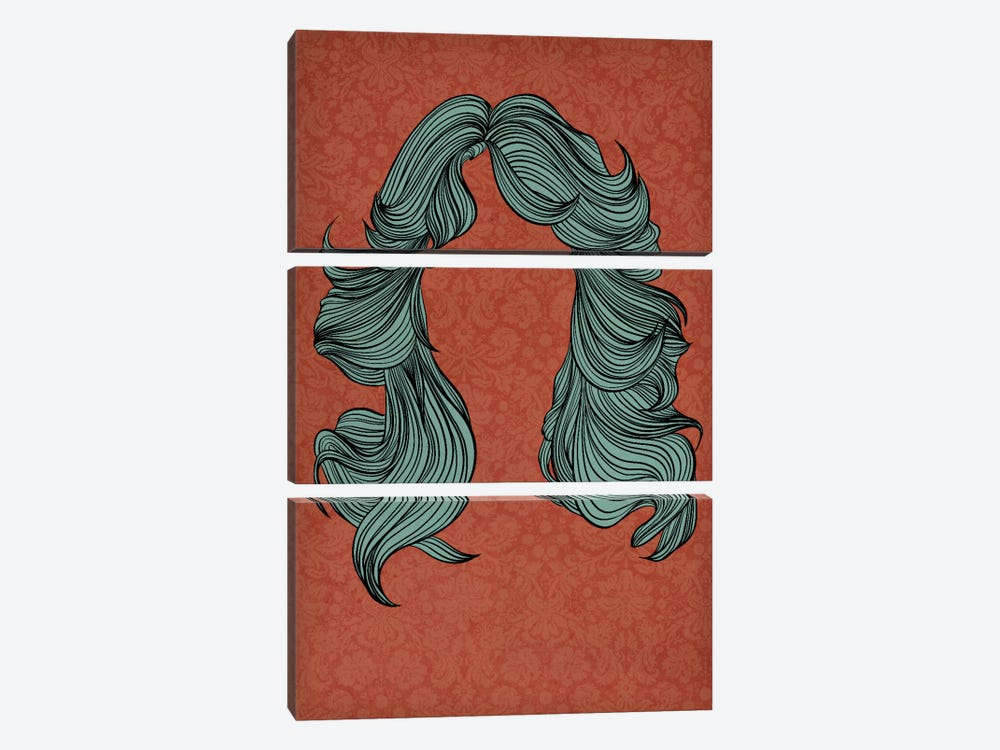 Feathered hair by 5by5collective 3-piece Canvas Wall Art