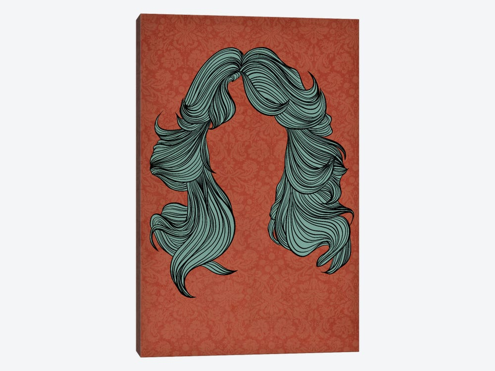 Feathered hair by 5by5collective 1-piece Canvas Art