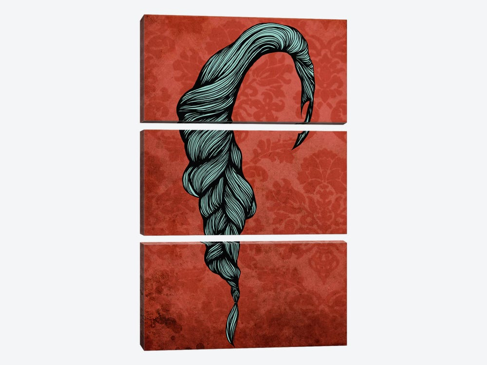 Fishtail by 5by5collective 3-piece Canvas Print