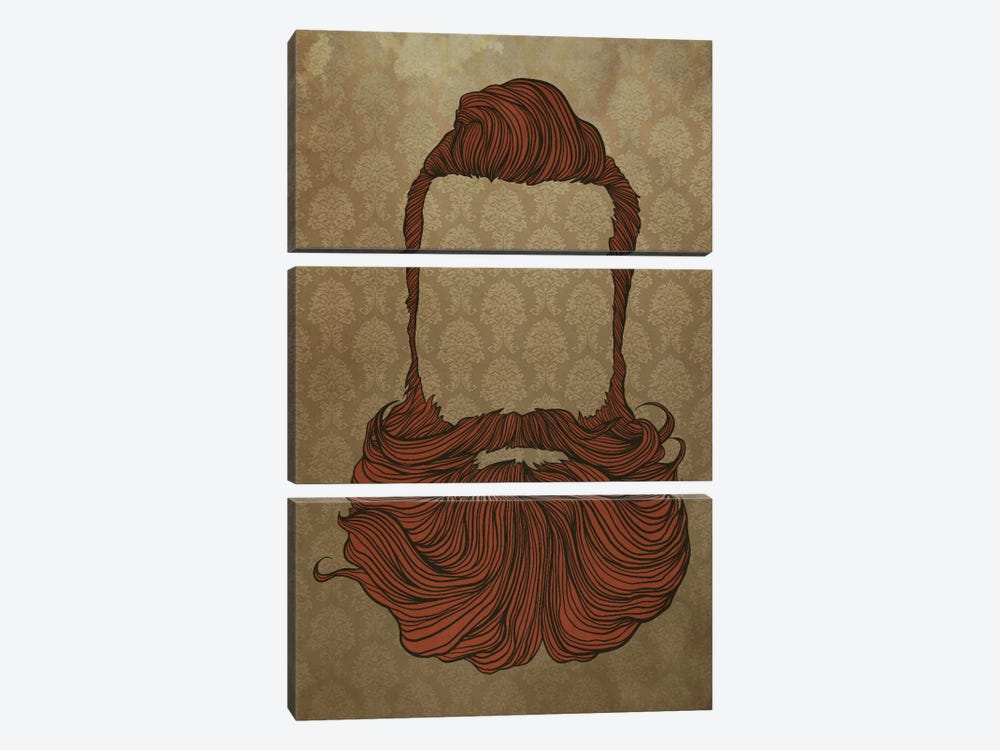 Fullbeard  by 5by5collective 3-piece Canvas Print