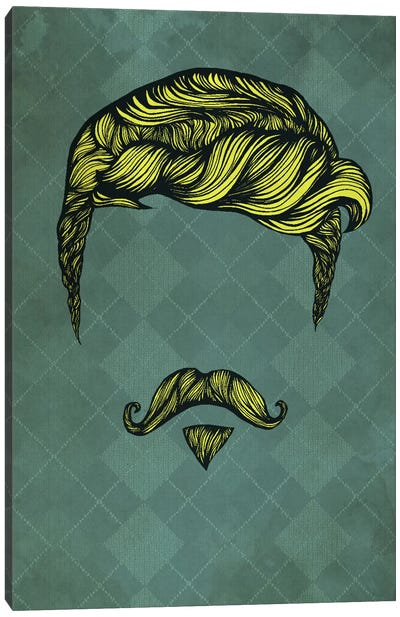 Handlebar Soulpatch Canvas Art Print