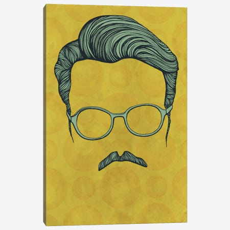 Moustache  Canvas Print #HSC3} by 5by5collective Canvas Art