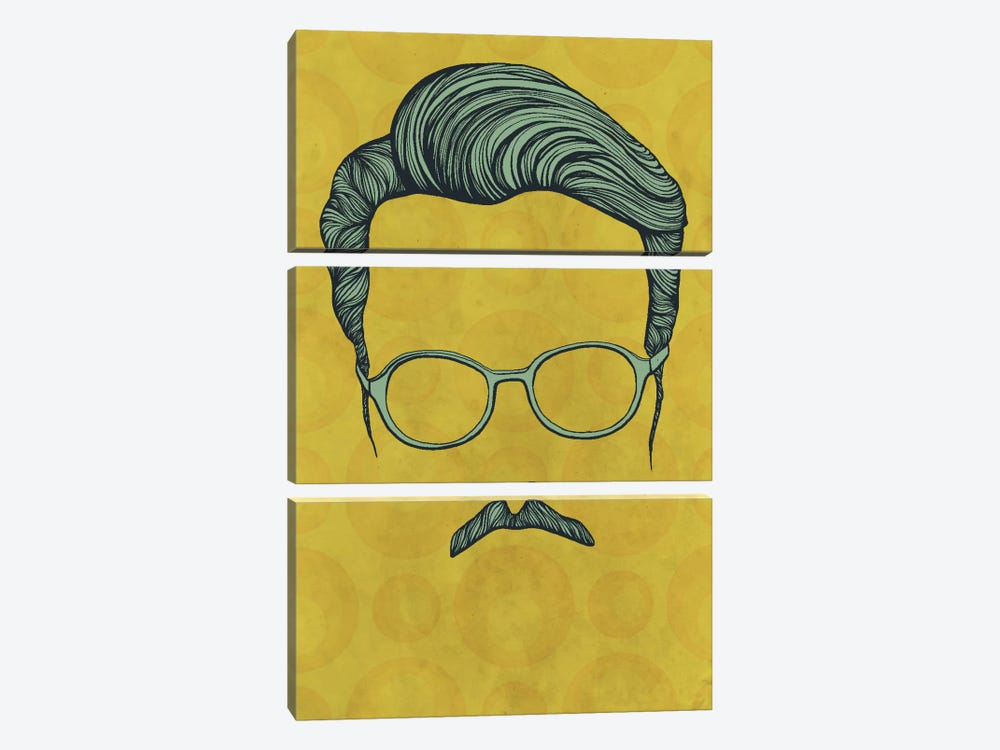 Moustache  by 5by5collective 3-piece Art Print