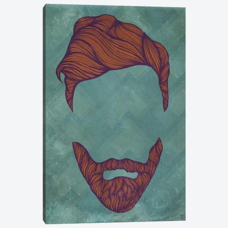 Quiff  Canvas Print #HSC4} by 5by5collective Canvas Art Print