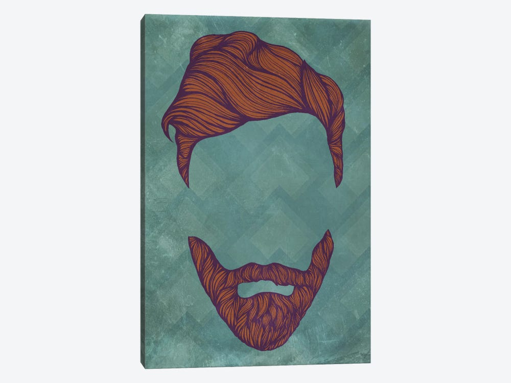 Quiff by 5by5collective 1-piece Canvas Wall Art