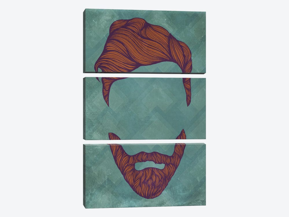 Quiff by 5by5collective 3-piece Canvas Artwork
