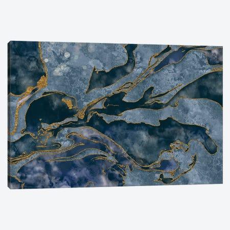 Precious Blue Mineral Canvas Print #HSE59} by Andrea Haase Art Print