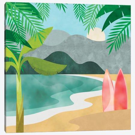 Secret Surf Spot Canvas Print #HSE65} by Andrea Haase Canvas Print