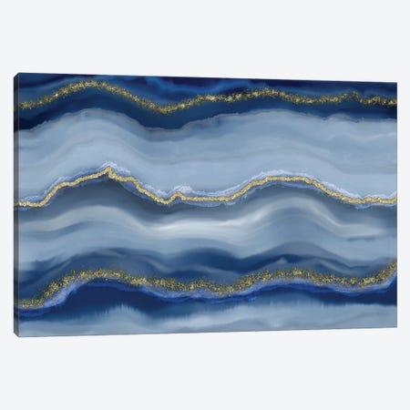 Blue Gemstone Luxury Canvas Print #HSE6} by Andrea Haase Canvas Art Print