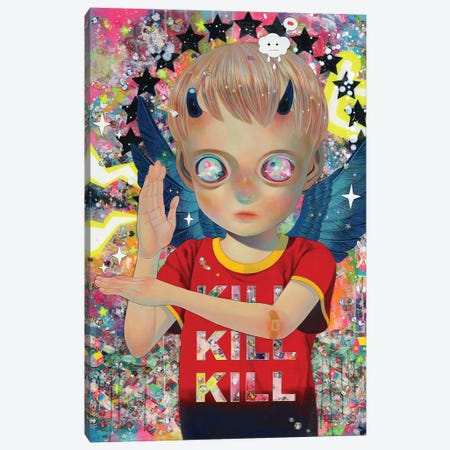 I Do Not Know My Enemy - Boy Canvas Print #HSH15} by Hikari Shimoda Art Print