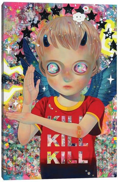 I Do Not Know My Enemy - Boy Canvas Art Print