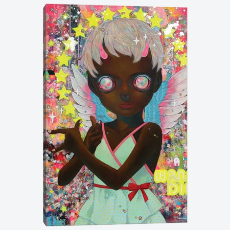I Do Not Know My Enemy - Girl Canvas Print #HSH16} by Hikari Shimoda Canvas Print
