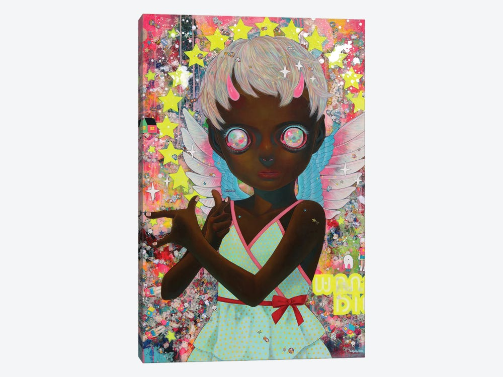 I Do Not Know My Enemy - Girl 1-piece Canvas Art