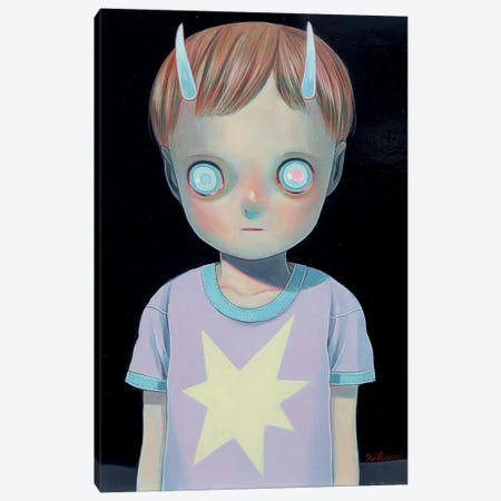 Darkness Canvas Print #HSH5} by Hikari Shimoda Canvas Artwork
