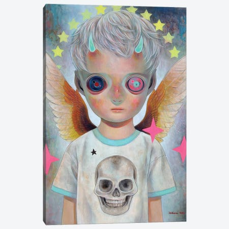 Death And Angel #1 Canvas Print #HSH7} by Hikari Shimoda Canvas Artwork
