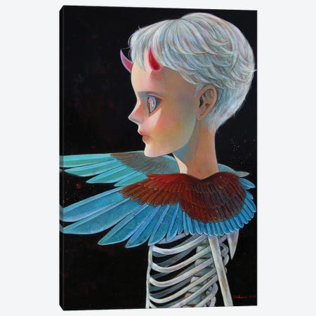 Death And Angel #4 Canvas Print #HSH8} by Hikari Shimoda Canvas Print