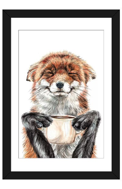 Morning Fox Framed Art Print