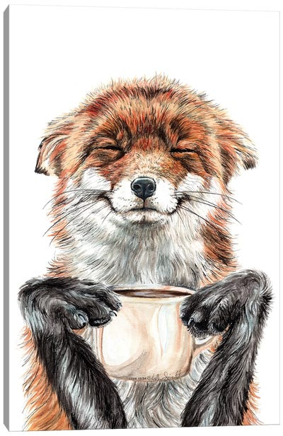 Morning Fox Canvas Art Print