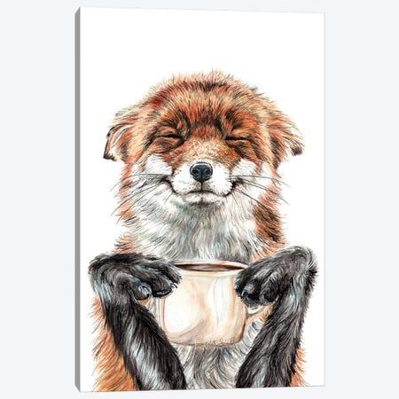 Morning Fox Canvas Print #HSI11} by Holly Simental Art Print