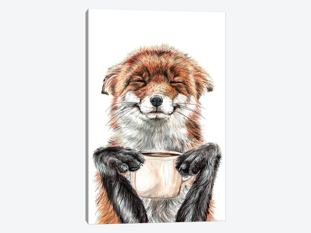 Morning Fox by Holly Simental 1-piece Canvas Art
