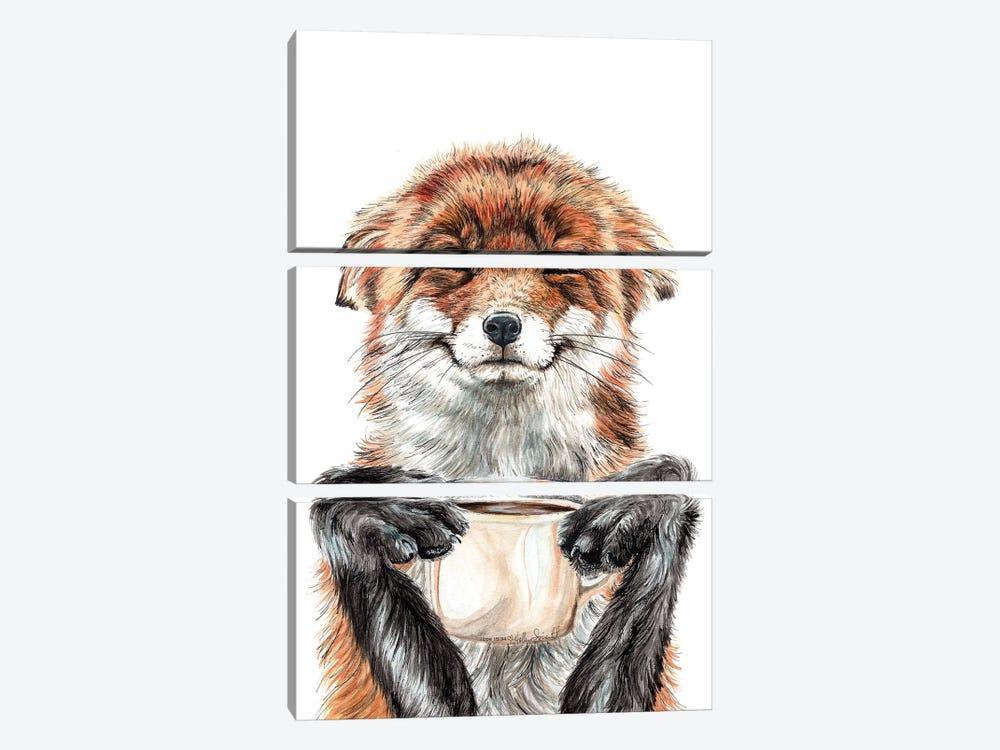 Morning Fox by Holly Simental 3-piece Canvas Artwork