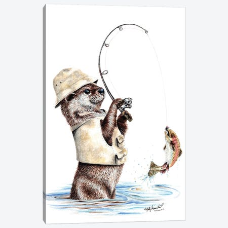 Natures Fisherman Canvas Print #HSI12} by Holly Simental Art Print