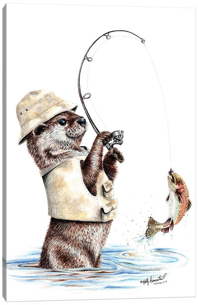 Natures Fisherman Canvas Art Print