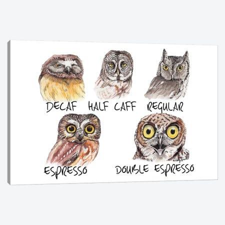 Owl Caffeine Meter Canvas Print #HSI13} by Holly Simental Canvas Print