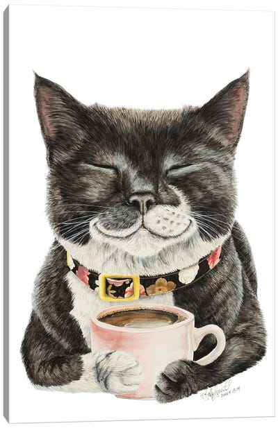 Purrfect Morning Canvas Art Print