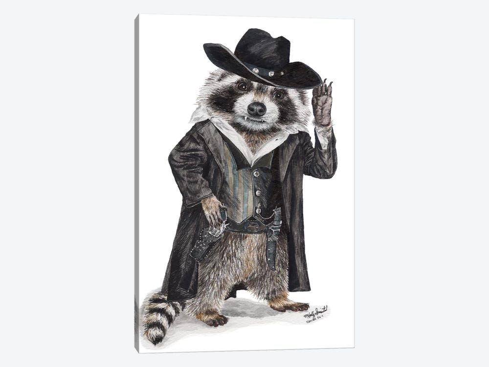 Raccoon Bandit by Holly Simental 1-piece Canvas Art