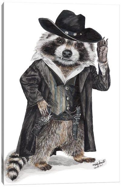 Raccoon Bandit Canvas Art Print
