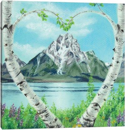 Teton Heart Canvas Art Print