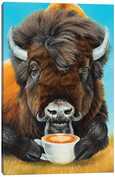 Bison Latte Canvas Art Print