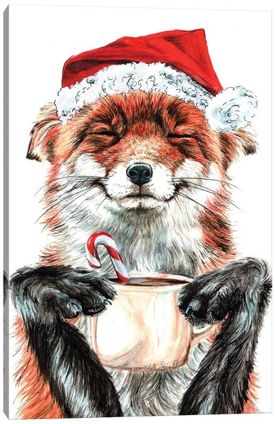 Morning Fox Christmas Canvas Art Print