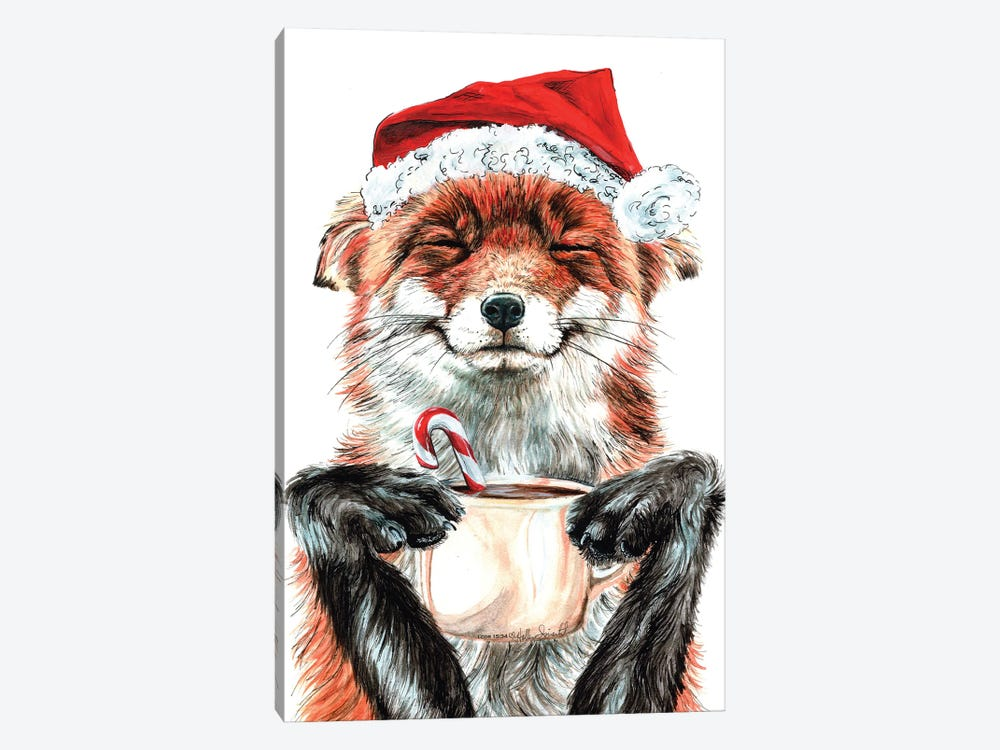 Morning Fox Christmas by Holly Simental 1-piece Canvas Print