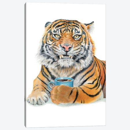 Too Early Tiger Canvas Print #HSI25} by Holly Simental Canvas Print