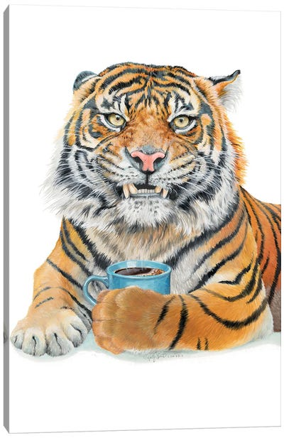 Too Early Tiger Canvas Art Print
